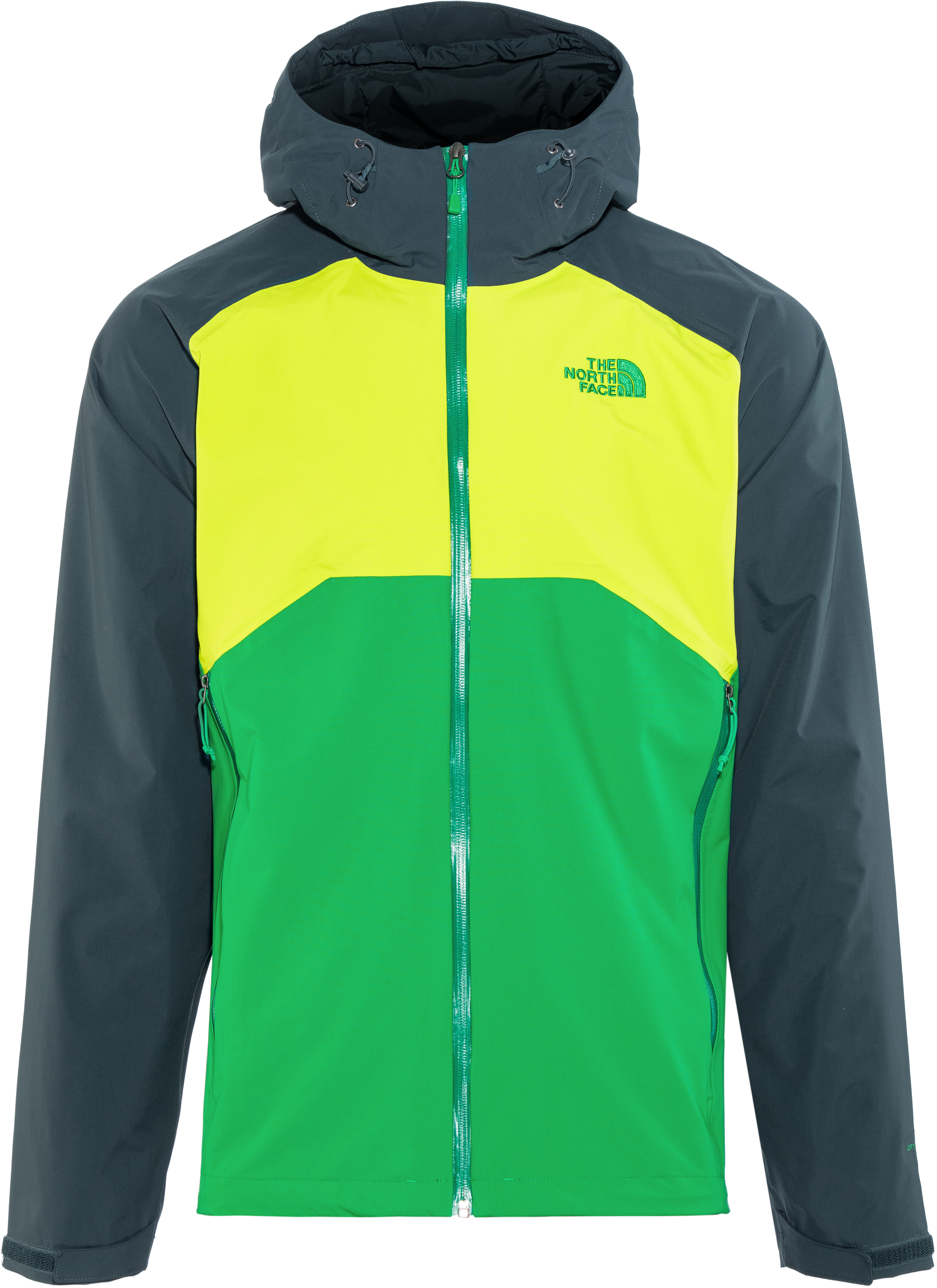 4ba834a10c The North Face Stratos Veste Homme, primary green/lime green/kodiac blue